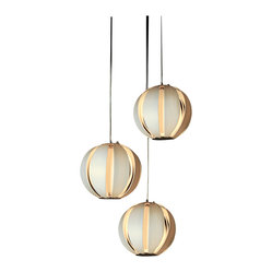 Trend Lighting - Pique Trio Pendant - Elegantly cascading down like a gentle waterfall of light, the multiple bulbs in this fixture will look beautiful in any room you hang them in. The circular shape of the pendants adds balance, while the modern design of each sphere will simply delight you.