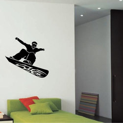 StickONmania - Snowboarder Design Sticker - A nice vinyl sticker and wall art design for your home Decorate your home with original vinyl decals made to order in our shop located in the USA. We only use the best equipment and materials to guarantee the everlasting quality of each vinyl sticker. Our original wall art design stickers are easy to apply on most flat surfaces, including slightly textured walls, windows, mirrors, or any smooth surface. Some wall decals may come in multiple pieces due to the size of the design, different sizes of most of our vinyl stickers are available, please message us for a quote. Interior wall decor stickers come with a MATTE finish that is easier to remove from painted surfaces but Exterior stickers for cars,  bathrooms and refrigerators come with a stickier GLOSSY finish that can also be used for exterior purposes. We DO NOT recommend using glossy finish stickers on walls. All of our Vinyl wall decals are removable but not re-positionable, simply peel and stick, no glue or chemicals needed. Our decals always come with instructions and if you order from Houzz we will always add a small thank you gift.