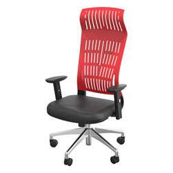 Best Rite - 47.25-50.75H x 27W x 27D Fly Chair High Back Office Chair-Red - Simple stylish and designed for ergonomic comfort the Fly Chair is ideal for virtually any workspace, office, conference room or training room.