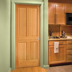 Wood Doors - 4 Panel Pine Door by HomeStory Doors
