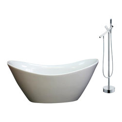 GOLDEN VANTAGE - GV Combo Bathroom White Color FreeStanding Acrylic Bathtub W/Faucet WFC - Our Contemporary European design acrylic freestanding bathtubs are more popular than ever! it adds drama to your bathroom and create a focal point to the space that many bathrooms lack, plus they are deeper than traditional build-in tubs, which allow for a more relaxing bath. All of these bathtubs use high quality acrylic material which is durable and light weight, some model come with an overflow design. GV bathtubs are as pleasing to the eye as they are to soak in.