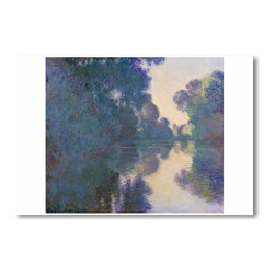 "PosterEnvy - Morning on Seine near Giverny 1897 - Claude Monet - Art Print POSTER - 12"" x 18"" Morning on Seine near Giverny 1897 - Claude Monet - Art Print POSTER on heavy duty, durable 80lb Satin paper"