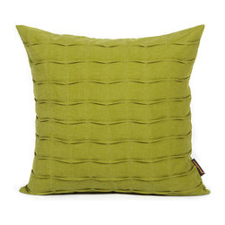 LaCozi - Olive Green Hand-Crafted Pintuck Pillow - Ripple effect. Delicate waves of pintucking turn the textural interest of your room up a notch. And because these pillows are crafted of comfortable, heavyweight cotton, that soft, touchy-feely sensation will be felt for many years to come.