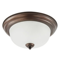 Sea Gull Lighting - Sea Gull Lighting 79443BLE Fluorescent Holman Three Light Flush Mount Energy Sta - The hallmark of the Holman Collection is versatility and affordability. Many of the fixtures have adjustable arms that allow lights to be mounted up or down.Features: