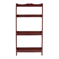 Urban Trends Collection - Wooden Shelf & Hanger Red - Wooden Shelf & Hanger Red