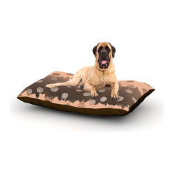 "Kess InHouse - Nika Martinez ""Earth Dots"" Brown Metallic Fleece Dog Bed (50"" x 60"") - Pets deserve to be as comfortable as their humans! These dog beds not only give your pet the utmost comfort with their fleece cozy top but they match your house and decor! Kess Inhouse gives your pet some style by adding vivaciously artistic work onto their favorite place to lay, their bed! What's the best part? These are totally machine washable, just unzip the cover and throw it in the washing machine!"