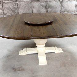 large round extension table - Made by www.ecustomfinishes.com