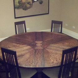 "DINING TABLE - EXPANDS FROM 60"" - 72"" ROUND - Photo Credit:  Arroyo WoodWorks"