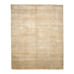 """Darya Rugs - Darya Rugs Modern, Moccasin, 8'2"""" x 10'1"""" M6066-12 - Darya Rugs Modern collection represents a minimalistic, timeless statement that complements transitional, contemporary, and traditional interiors. All rugs were hand-knotted by skilled artisans and weavers."""