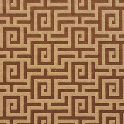 Brown And Gold Shiny Geometric Luxurious Faux Silk Upholstery Fabric By The Yard - This upholstery fabric feels and looks like silk, but is more durable and easier to maintain. This fabric will look great when used for upholstery, window treatments or bedding. This material is sure to standout in any space!