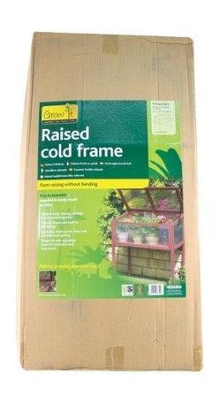 Gardman USA - Raised Wooden Cold Frame - Raised Wooden Cold Frame -FSC Timber