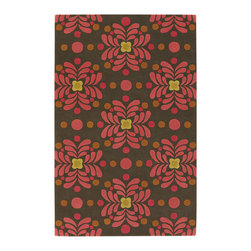 "Emma At Home EMM19906 Designer Rug - 5' x 7'6"" - Award-winning designer Emma Gardner, chief designer and principal at emma gardner design, has been creating striking and vibrant rugs for consumers, interior designers and architects since 2002 from her Litchfield, Connecticut studio."