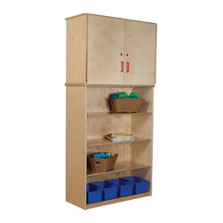 Wood Designs - Wood Designs Vertical Storage Cabinet Multicolor - WD56400 - Shop for Childrens Toy Boxes and Storage from Hayneedle.com! About WDM Inc.For 30 years Wood Designs has put passion for the enrichment and safety of children into quality wooden early learning furniture. Dennis and Debbie Gosney the couple behind this labor of love have taken their 50 years combined experience in child development furniture manufacturing and built a company at the forefront of innovation and safety. Intuitive design coupled with novel safety features like Pinch-me-not hinges and Tip resistant furniture set Wood Designs apart from the typical early learning furniture manufacturers.