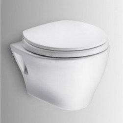 Toto - CWT418MFG-2#01 Wall-Hung Toilet & Duofit In-Wall Tank System - Dual-Max Flushing System Low Consumption - Adjustable 15-19 Mounting Height - Saves up to 9 of Floor Space Compared to Standard Floor-Mounted Toilet - Supports up to 880 lbs - Commercial 2 x 6 or Optional Residential Installation With 2 x 4 Wall Stud...