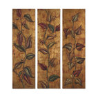 Climbing Vine Art Panels, Set of 3