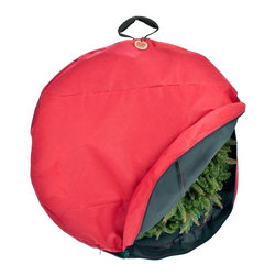 Tree Keeper - Premium Christmas Wreath Storage Bag - TreeKeeper's exclusive Direct-Suspend System attaches directly to your wreath frame and protects better than any other bag! Simply attach the provided hook directly to the wreath frame to keep your wreath looking as good as the first day you hung it up!