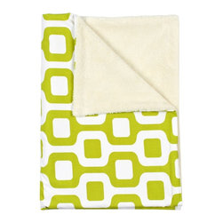 LaCozi - Contemporary Chartreuse Baby Blanket - They're just getting warmed up. Your babies are ready to go just about anywhere, because they're wrapped up in the coziest of blankets, that can travel from the car to the playroom to the stroller with style.