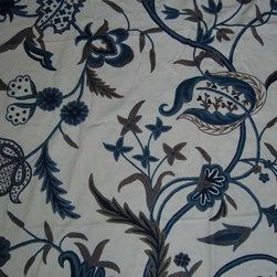 Crewel Fabric World by MDS - Crewel Fabric Chelsea White Cotton Duck- Yardage - Fabric Type:Cotton Duck