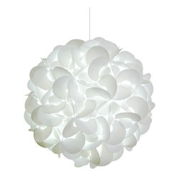 Akari Lanterns - Deluxe Rounds Pendant Light Fixture - Cool white glow - DELUXE Rounds Hanging Pendant Lamp, Cool white glow