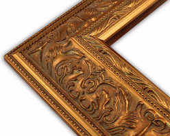 The Frame Guys - Wide Ornate Gold with Double Beaded Edge Picture Frame-Solid Wood, 16x20 - *Wide Ornate Gold with Double Beaded Edge Picture Frame-Solid Wood, 16x20