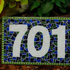 Contemporary House Numbers by Green Street Mosaics