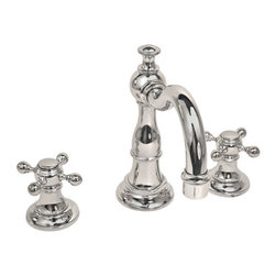 """Newport Brass - Newport Brass 1760 Victoria Double Handle Widespread Lavatory Faucet - Victoria Double Handle Low Lead Widespread Lavatory Faucet with Metal Cross HandlesThe Newport Brass Victoria Collection features traditional artistry which fits in to any home. This classically themed faucet collection will bring a classic beauty to any home. Newport Brass lavatory faucets are available in several different styles with 25 unique finish options. Every Newport Brass bathroom faucet is CA/VT low lead compliant and WaterSense certified. Solid brass construction and ceramic disc cartridges ensure that your Newport Brass bath faucet will last the test of time. You will see why Newport Brass boasts Flawless Beauty from Faucet to FinishFeatures:Double handle lavatory faucetADA Compliant Cross HandlesBrass Valve Bodies. Valve Included.Quarter-turn washerless ceramic disc valve cartridgesPop-up drain with tail pieceCA/VT Low lead compliantWaterSense CertifiedSolid brassReadyship Available Finishes - Finishes guaranteed to be in stock by Newport BrassForever BrassEnglish BronzeOil Rubbed BronzePolished NickelSatin NickelPolished ChromeFinish Features:Available in 25 beautiful finishesNew Industry Leading lacquer Finish ProcessIAPMO Certified and testedLong Life Finishes - 10 Year WarrantyDurable, color protected, scratch resistantGreen, low VOC, energy efficient finishing processSpecifications:Spout Reach: 6-3/16""""Spout Height: 4-3/16""""Overall Height: 7-3/8""""Handle Height: 3-7/16""""8"""" CentersLow Lead Compliant : YesWaterSense Certified : YesCenters : 8""""Material : Solid Brass1/2"""" valves"""