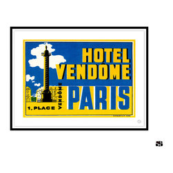 Studio Eight - HOTEL VENDOME, Paris, Golden Age of Travel Vintage Art Restoration Series - HOTEL VENDOME, PARIS.