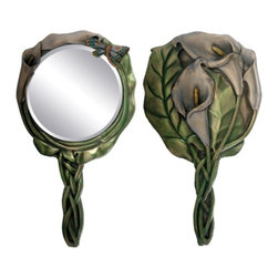 Summit - Calla Lily Hand Mirror Dragonfly Beauty Accessory Decor Collectible - This gorgeous Calla Lily Hand Mirror Dragonfly Beauty Accessory Decor Collectible has the finest details and highest quality you will find anywhere! Calla Lily Hand Mirror Dragonfly Beauty Accessory Decor Collectible is truly remarkable.