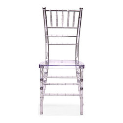 Diamond Dining Chair by Zuo Modern - A modern take on a classical shape and structure, the Diamond dining chair unites every classical dining room into the modern age. Made of clear polycarbonate.