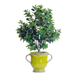 Winward Designs - Italian Ficus Topiary In Urn Flower Arrangement - Get the timeless look of an Italian ficus without the hassle of caring for this temperamental plant. With an elegantly rustic urn, the permanent topiary stands 41 inches tall and would be perfect in a cheerful living room for years to come.