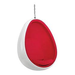 Fine Mod Imports - Egg Fiberglass Hanging Chair - Features: