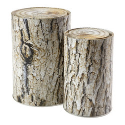 Woodstock Tins - Add a little interest to your space with these whimsical storage tins.