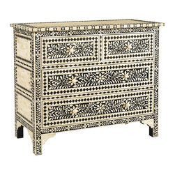 Sherrill Occasional - Sherrill Occasional Bone Chest 173-990 - This chest is made of inlaid bone creating a unique chest reminescent of West Indies antique island craftsmanship.