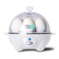 Storebound - Dash Rapid Egg Cooker, White - Do you always feel like you're rushing to get out the door in the morning, leaving no time for breakfast? This rapid egg cooker will help that rant subside with its capacity to cook soft, medium or hard-boiled eggs in 12 minutes or less. You can easily have an egg on the go for your workweek with the tray holding up to six eggs. For your leisurely weekend mornings, try the poaching option for you (and a friend).