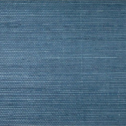 Sisal Twill Blue Grasscloth Wallpaper - The deep ocean blue calms the spirit and revives the soul. Bring that tranquility to your home with this natural fiber grasscloth. The organic nature of the product is truly a unique addition to any décor.