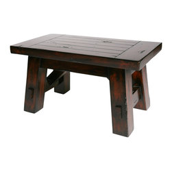 Hard Wood Bench, Small - Modern Lodge Collection