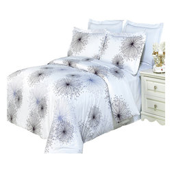 Bed Linens - Tiffany Printed Multi-Piece Duvet Set King/California King4PC Comforter Set - Enjoy the comfort and Softness of 100% Egyptian cotton bedding with 300 Thread count fiber reactive prints.*100% Egyptian cotton *300 Thread count *Reactive Print, lasts longer and looks like real live pictures .