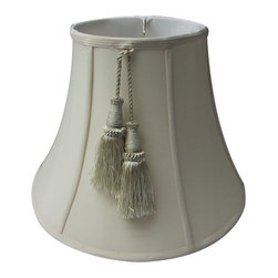 Home Concept - Shantung Lamp Shade - Eggshell 8x16x12 - Home Concept Signature Shades feature the finest premium shantung fabric.