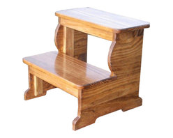 Extra Large Wooden Step Stool -