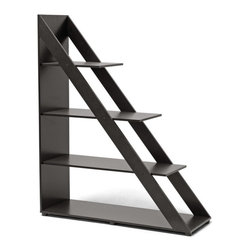 Baxton Studio - Psinta Dark Brown Modern Shelving Unit - Wage your bets and you won't lose with this striking display unit. Feature your most treasured accents or store things to keep handy and you will bring your style to a whole new level.