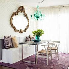 Contemporary Dining Room by Janna Makaeva/Cutting Edge Stencils
