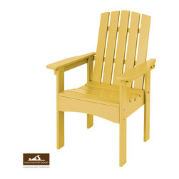 Club Adirondack Chair by Manchester Wood - A re-inspired Adirondack chair; made exclusively in the Adirondack region of New York from locally harvested solid maple hardwood. Fit for the Club Adirondack Dining Table or enjoyed separately. Exceptional durable finish and rust-resistant hardware makes it built to last.