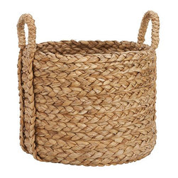 Beachcomber Sea Grass Basket, Round, Extra Large - Think of all the neon, flashing toys that could get hidden away in this beautiful basket. Extra large baskets are great for storing collections of items: stuffed animals, costumes, building blocks and even stinky sports equipment.