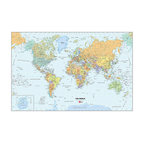 "WallPops - World Dry-Erase Map Wall Decal - Decorate your walls with a classic look and a functional tool, by adding a Dry-Erase Map of the World to your home or office. The World Dry-Erase Map is 24""w x 36""h, is completely repositionable, and comes with a free WallPops dry-erase marker."