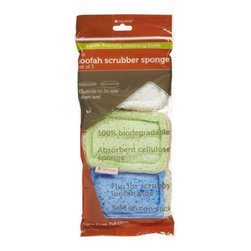 Full Circle - Full Circle Home Sponge Flip Loofah - Pack of 36 - Here's a situation where being two-faced is a good thing. These ecofriendly sponges have an absorbent cellulose side for surface cleaning and dishwashing, and a natural loofah side for harder scrubbing that's still safe for nonstick surfaces. So stock up on these terrific biodegradable and compostable sponges, available here in 12 packs of three.
