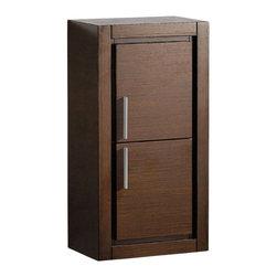 Fresca - Fresca Gray Oak Bathroom Linen Side Cabinet w/ 2 Doors, Wenge Brown - Fresca Wenge Brown Bathroom Linen Side Cabinet w/ 2 Doors