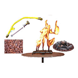 warming trends - Manual Light Crossfire Burner 60K BTU - Before you can gather around your forthcoming fire pit, gather together all the included components featured in this reliable kit. You get the line, the lava rock and the logs — and soon after — comes the light.