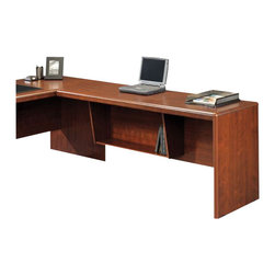 """Sauder - Sauder Cornerstone 65"""" Desk Return in Classic Cherry - Sauder - Computer Desks - 404380 - Sure, lots of office and home furnishing manufacturers can help you create an organized, comfortable and fashionable place to live. But Sauder provides a special kind of furniture that is practical and affordable, as well as attractive and enduring. As North America's leading producer of ready-to-assemble furniture, we offer more than 500 items that have won national design awards and generated thousands of letters of gratitude from satisfied consumers."""