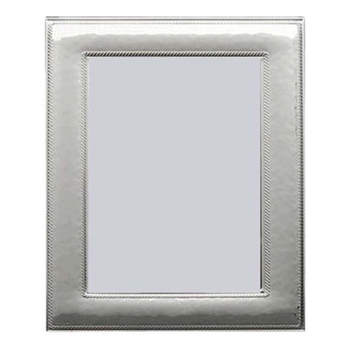 "Silverstar International - 3.5""x5"" Niche Silver Sterling Picture Frame - Niche sterling silver photo frame is a simply gorgeous 10th wedding anniversary photo frame with a lightly hammered face featuring two beaded bands on the inner and outer border. The Silverstar International bi-laminated 925 Sterling Silver picture frame is meticulously manufactured to an aluminum base for strength. Every Silverstar picture frame is designed with a tarnish resistant surface for easy cleaning and glare resistant glass. It is the perfect traditional wedding, anniversary, or birthday gift."