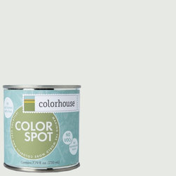ColorSpot Eggshell Interior Paint Sample, Imagine .05,  8-oz - Test color before you paint with the Colorhouse Colorspot 8-oz  paint sample. Made with real paint and in our most popular eggshell finish, Colorhouse paints are 100% acrylic with NO VOCs (volatile organic compounds), NO toxic fumes/HAPs-free, NO reproductive toxins, and NO chemical solvents. Our artist-crafted colors are designed to be easy backdrops for living.